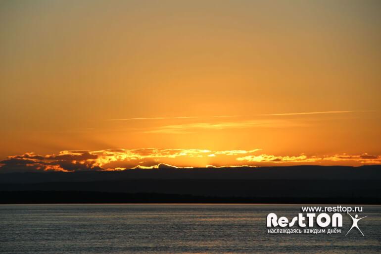 закат солнца Верхняя эконь