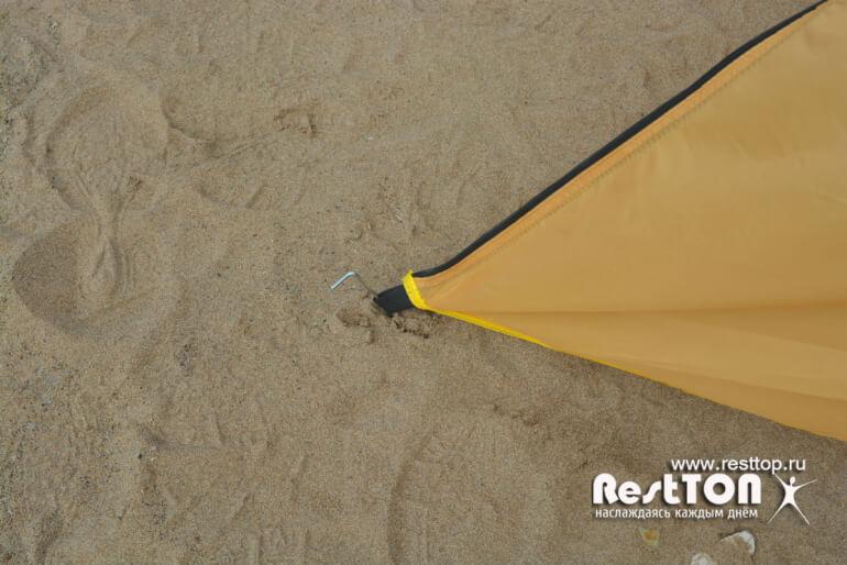 растяжка тента бюджетная палатка 4 местная traveltop CT-2316