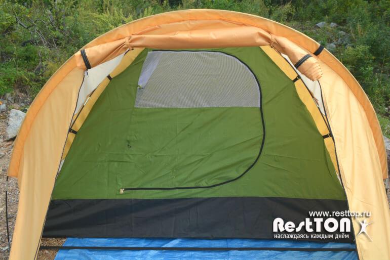 кемпинговая бюджетная палатка 4 местная traveltop CT-2316