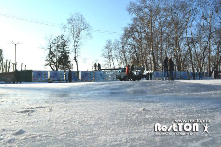 состояние качество льда набережная каток